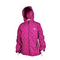 Детская куртка демисезонная (Чехия ) pidilidi & Bugga термо мембранная для девочки малиновая на флисе водонепр