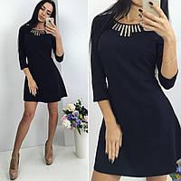 Женское модное платье с декором (2 цвета)