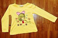 Детский реглан для девочки Бабочка 1-6 лет
