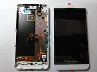 Дисплей (экран) BlackBerry Z10 3G, STL100-1 белый с сенсором и рамкой original