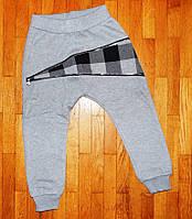 Теплые спортивные штаны для мальчика Клетка 3 год