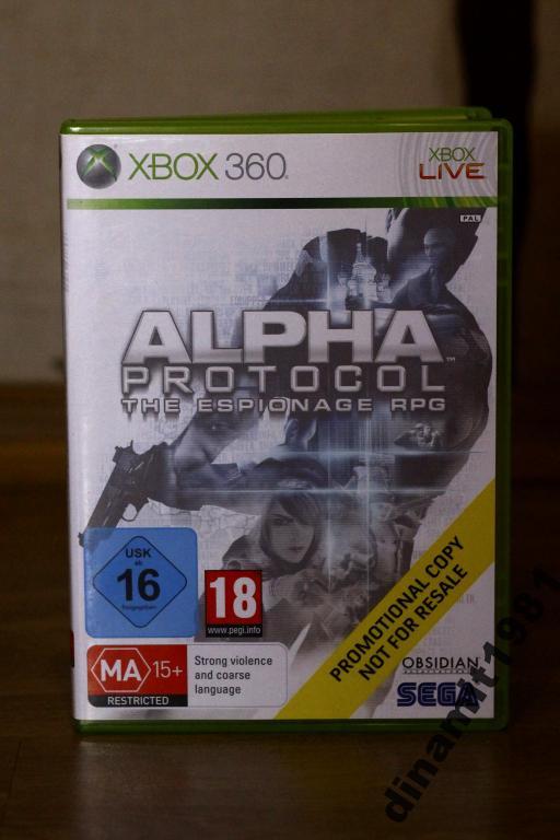 Игра для Xbox 360 Alpha Protocol ЛИЦЕНЗИЯ