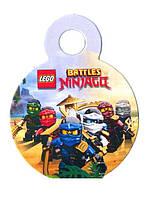Медаль лего Нинзяго  на ленте 74мм диаметр