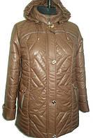 Стильная демисезонная женская куртка шоколадного цвета