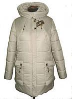 Красивый женский зимний пуховик с большими карманами