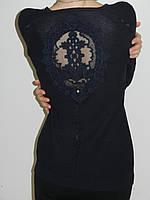 Ажурная кофточка с красивой спинкой вязаная женская тонкая Eletta 1410 (три цвета) Турция рр. 46, 48