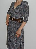 Нежное платье из тонкого трикотажа с мелким растительным принтом и широкой юбкой Exclusive 50265663 рр. M, L