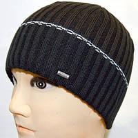 Мужская шапка с широкой полоской