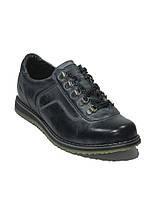 Туфли мужские под джинсы спортивного типа синие Мида 11569  демисезон Украина размеры 40, 41, 44