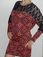 Платье-туника женское с гипюром с длинным рукавом Eileens Китай рр. 46-48