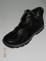 Мужские ботинки с пряжками зимние искусственная кожа черные размеры 41, 42, 44