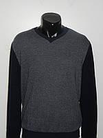 Легкий мужской свитер молодежный серый синий EXC 4102 размер S (48) L(52) Турция