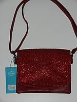 Элегантная сумка клатч из эко-кожи с тканью длинная ручка 5 цветов Little Pigeon С076А