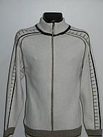 Кофта на замке мужская вязаная под горло белая размер M, L, XL Semal Турция