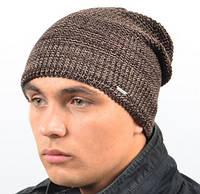 Мужская шапка  коричневый меланж