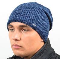 Зимняя мужская удлиненная  шапка