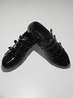 Кроссовки женские лак кожаные черные Украина Restime UL 210016 размер 36, 38