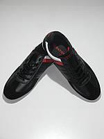 Повседневные кроссовки мужские черные кожзам Sayota размер 41,43,44,45,46