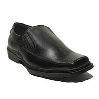 Туфли мужские квадратный носок кожа Jimoter 12V172 демисезон Украина размеры 40,41,42,43,45