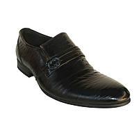 Туфли мужские классика с пряжкой кожа Patriot 120521 демисезон Украина размеры 40,41,44