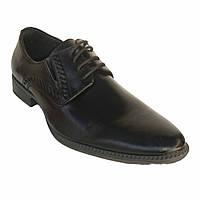 Мужские классические туфли на шнурках кожа Patriot 120552 демисезон Украина размеры 39,40,41,42,44