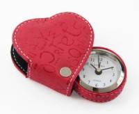 Сердечко-будильник красный