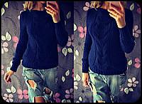 Женский модный вязанный свитер с элементами сердечек (5 цветов)