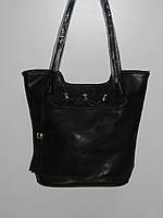 Элегантная сумка эко кожа черная Ginge мягкая