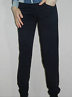 Спортивные штаны женские темно-синие трикотаж Украина рр. 44, 46, 48, 50
