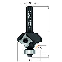 Фреза  радиусная со сменными ножами  кромочная, R = 3 мм