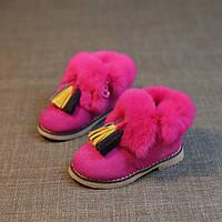 Детские теплые ботинки для девочки зима