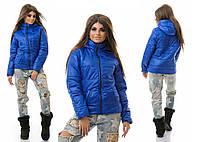 Женская зимняя короткая куртка на синтепоне