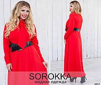 Красноек платье в пол
