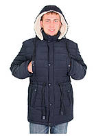 Куртка парка мужская зимняя синяя черная El&KEN размер 46-52 Турция