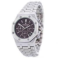 Мужские часы Audemars Piguet цвет корпуса серебро, коричневый циферблат, класс ААА