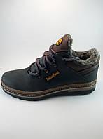 Timberland ботинки из натуральной кожи на меху чёрный с коричневым (зима)