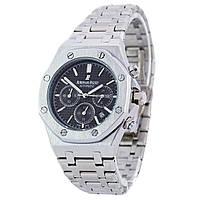 Мужские часы Audemars Piguet цвет корпуса серебро, черный циферблат, класс ААА