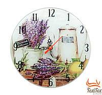 Круглые настенные часы на кухню Лаванда