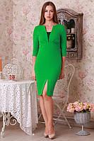 Приталенное платье зеленого цвета