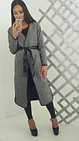 """Твидовое, модное, женское пальто """"Без пуговиц"""""""