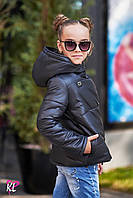 Куртка теплая  на флисе для девочки с капюшоном в расцветках