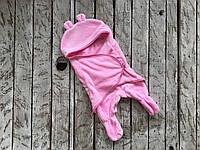 Универсальный спальник - кокон от 0-6 мес, розовый