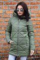 Куртка-парка женская Полина хаки (42-52), фото 1