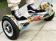 """Яркий гироскутер Smart Balance Wheel 10"""" Hip-Hop. Отличное качество. Новая модель. Купить онлайн. Код: КДН742"""