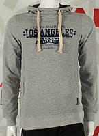 Стильный серый джемпер с капюшоном, фото 1