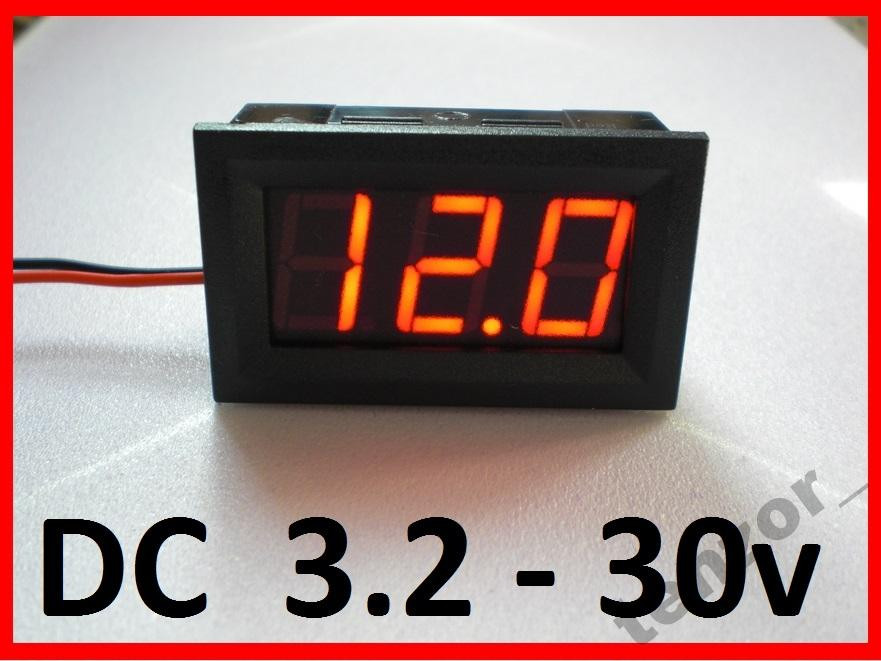 Цифровой вольтметр DC 3.2 - 30 вольт