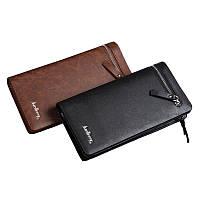 Мужской стильный кожаный портмоне кошелек Baellerry Italia еко-кожа