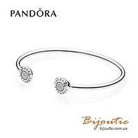 Pandora браслет Открытый с логотипом PANDORA #590528CZ серебро 925 Пандора  оригинал