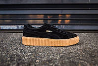 Кроссовки женские Puma x Rihanna Creeper Black/Oatmeal (пума, оригинал)