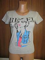 Стильная молодежная футболка  р. 44 новая